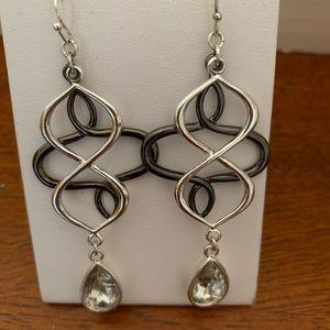 Avon Open Loop Teardrop Earrings